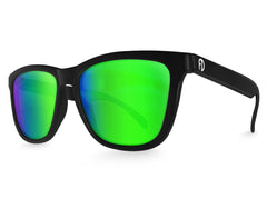 Black Green Chameleon Mirrored Sunglasses - Faded Days