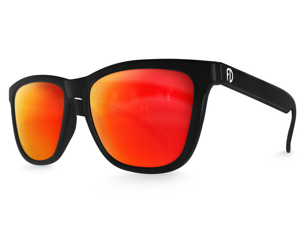 Black Lava Mirrored Sunglasses