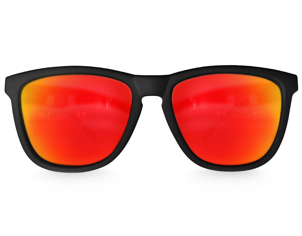 Black Lava Mirrored Sunglasses - Faded Days