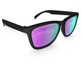 Black Purple Chameleon Mirrored Sunglasses - Faded Days