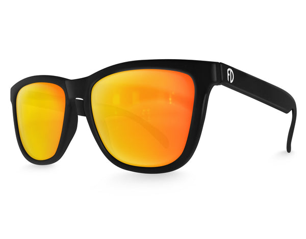 Black Solar Mirrored Sunglasses