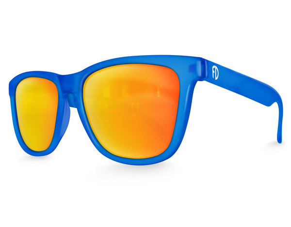 Blue Haze Solar Mirrored Sunglasses