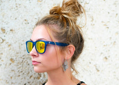 Blue Haze Solar Mirrored Sunglasses - Faded Days