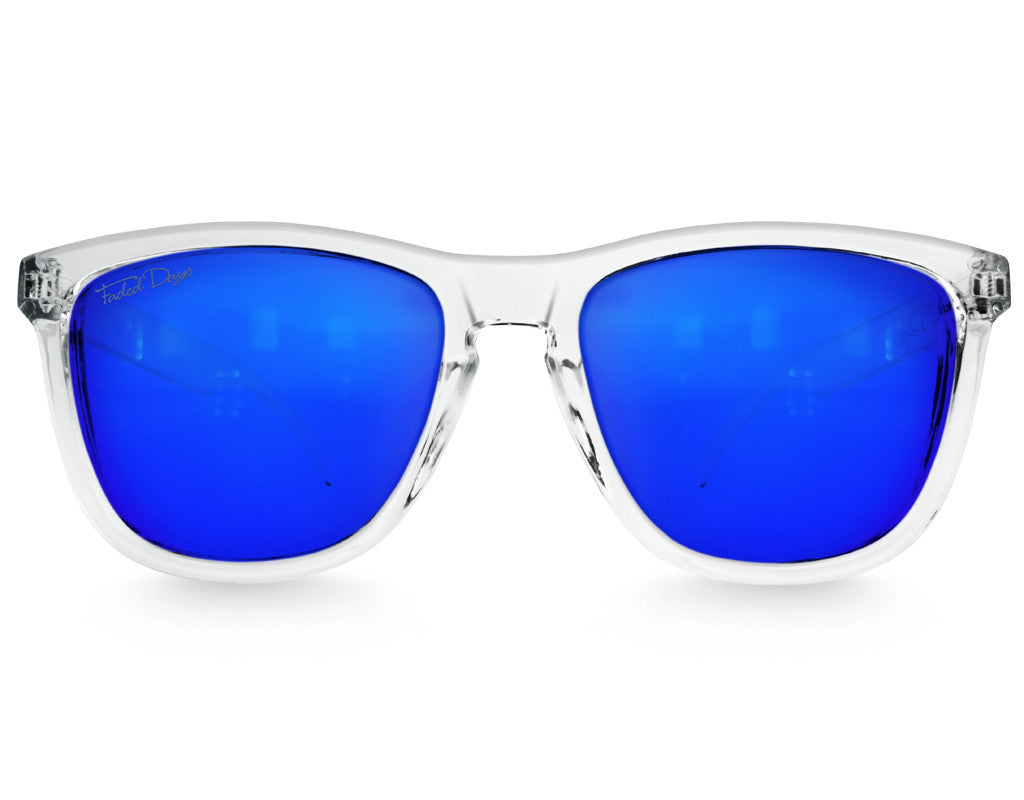 Clear Ice Mirrored Sunglasses - Faded Days