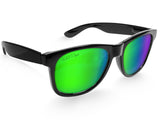 Black Green Chameleon XL Sunglasses