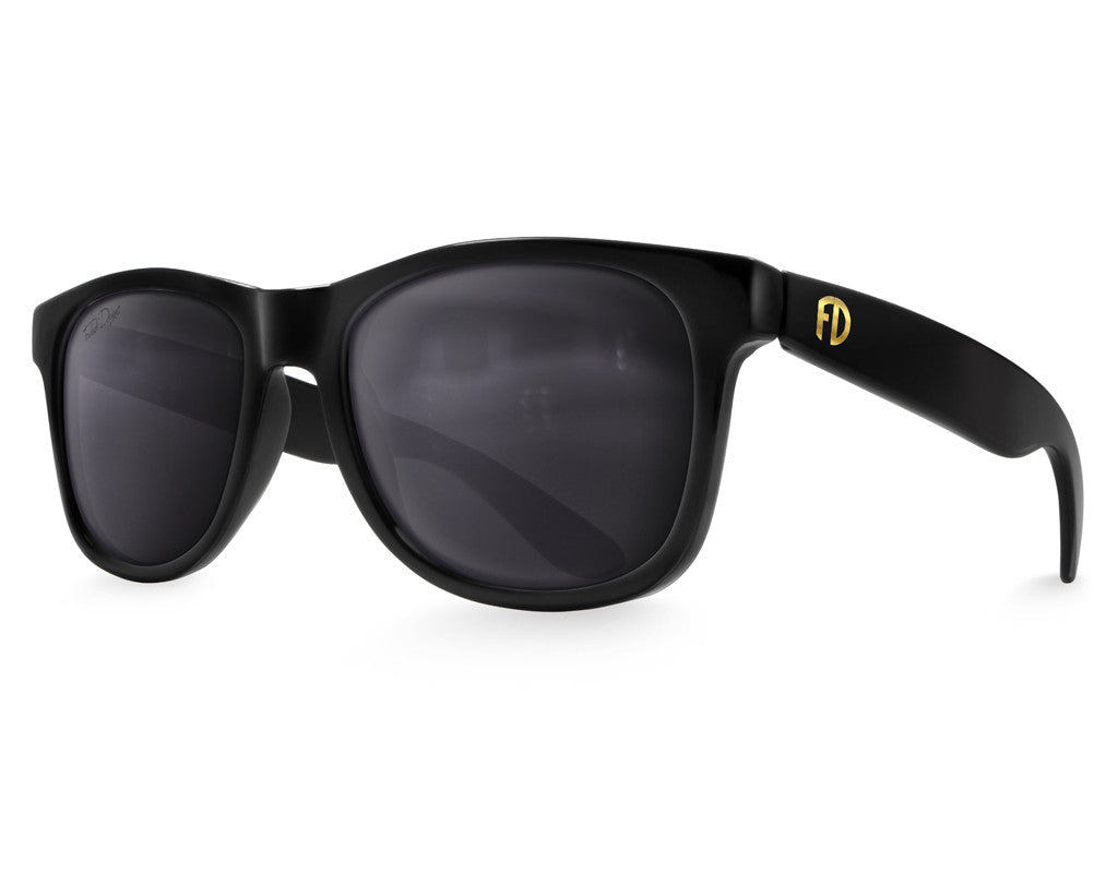 Polarized Black XL Sunglasses - Faded Days