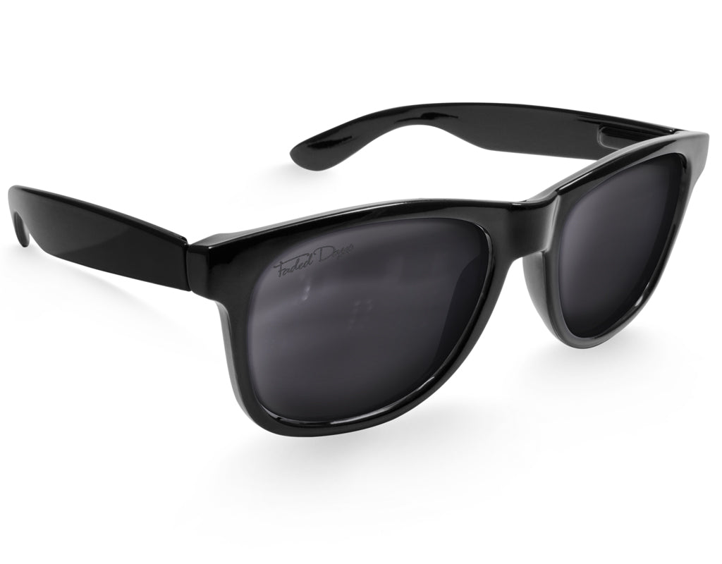 Black Large Frame Sunglasses - Faded Days