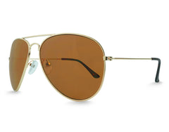 Brown Aviator Sunglasses - Faded Days
