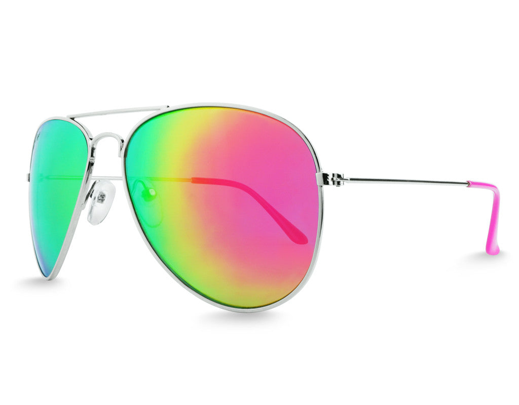 Pink Aviator Sunglasses - Faded Days