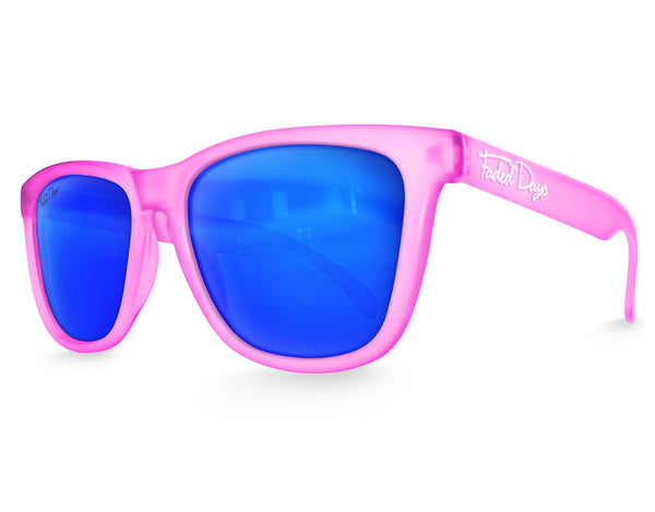 Pink Haze Ice Mirrored Sunglasses