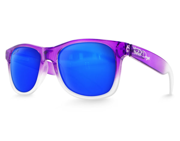 Purple Large Frame Sunglasses
