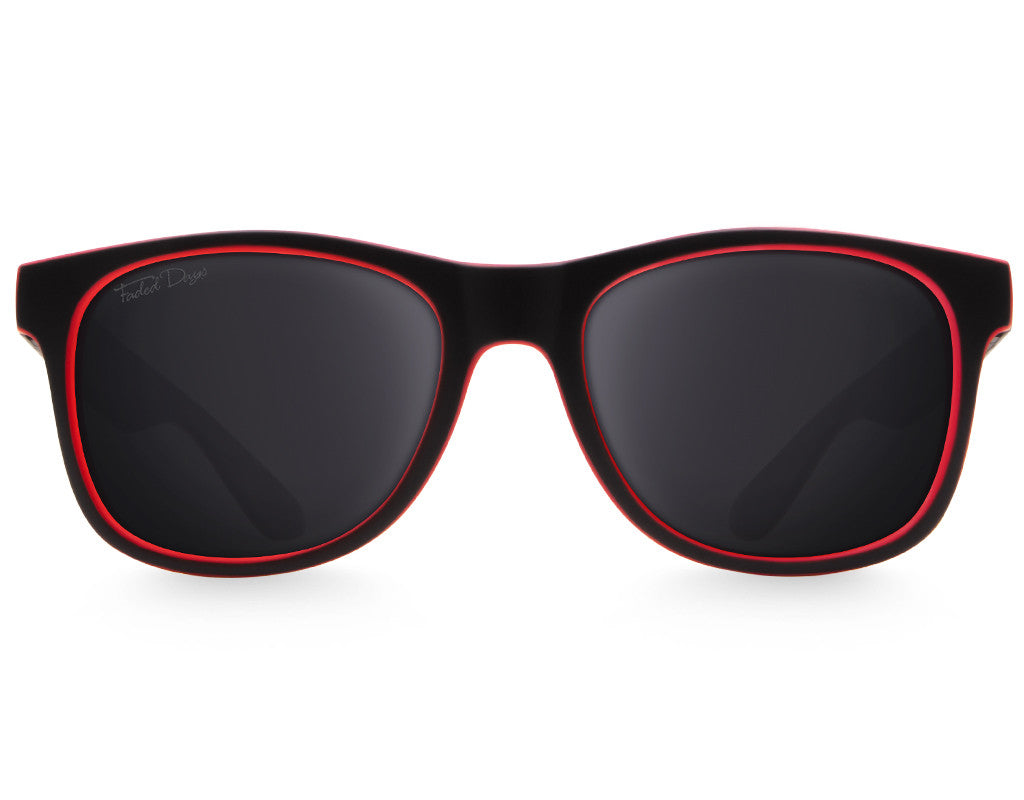 Black & Red XL Cabana Sunglasses