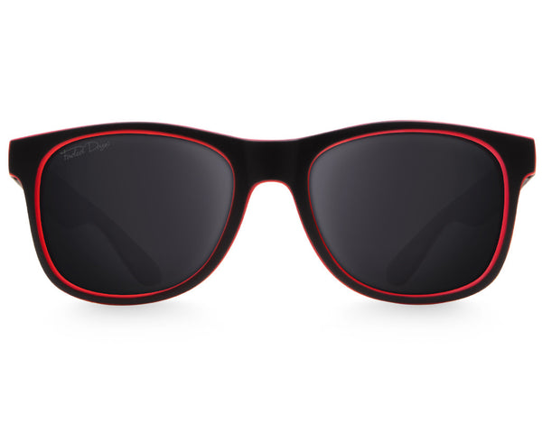 Black & Red Extra Large Sunglasses - Faded Days