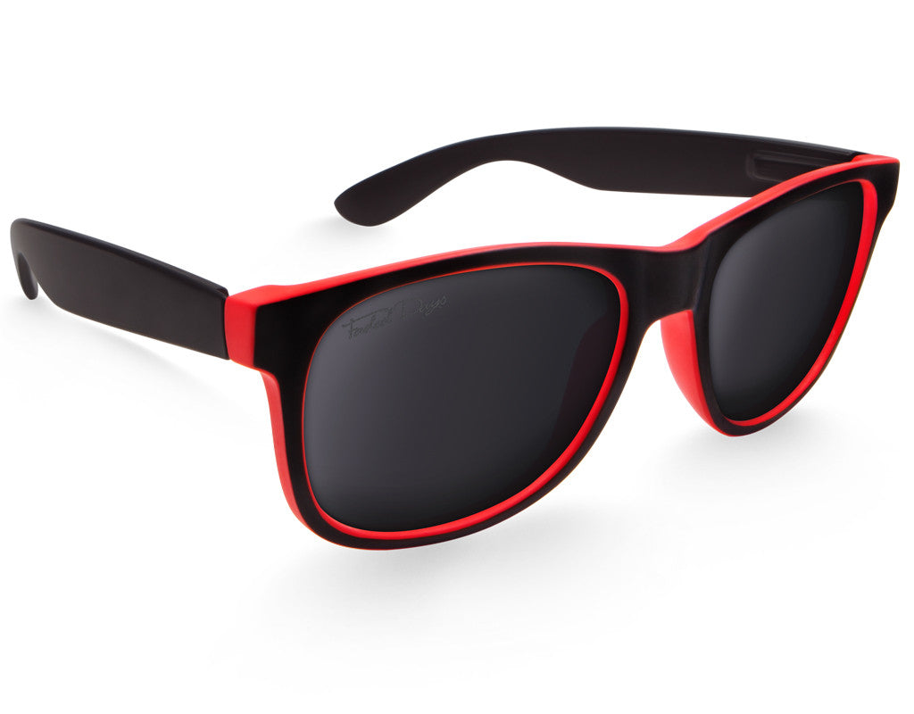 Black & Red Large Frame Sunglasses - Faded Days