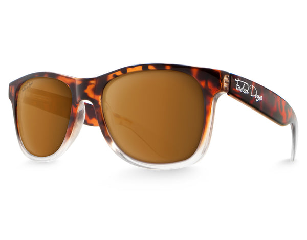 Faded Tortoise Large Frame Sunglasses