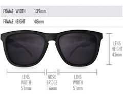 Black High Shine Mirrored Sunglasses - Faded Days