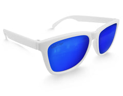 White Ice Mirrored Sunglasses - Faded Days