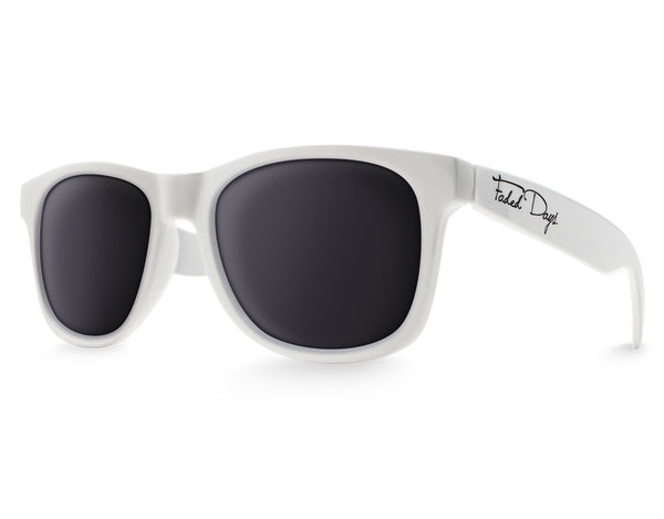 White Large Frame Sunglasses
