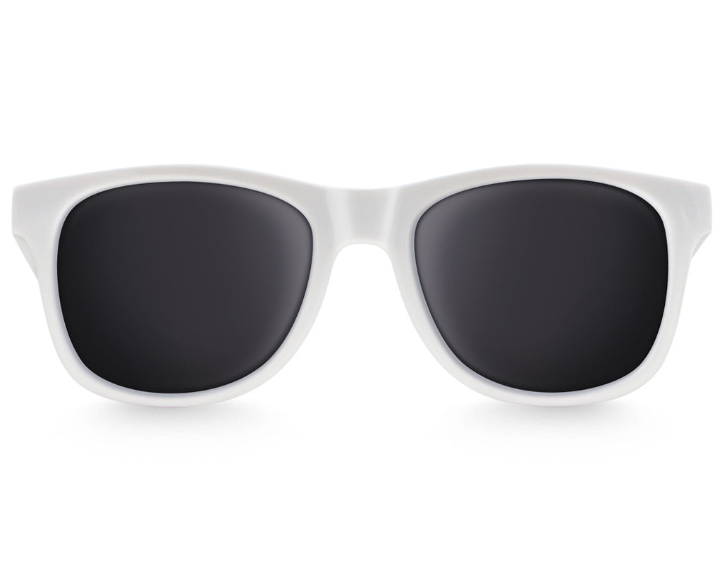 White Large Frame Sunglasses - Faded Days