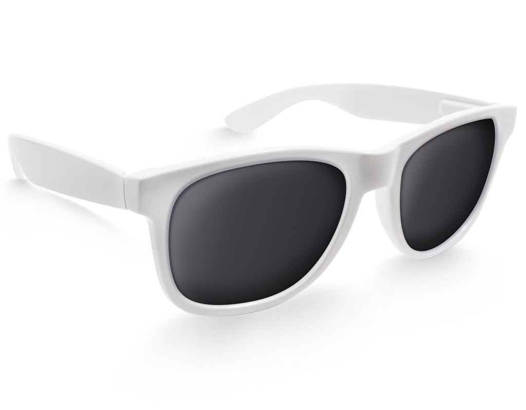 White XL Sunglasses - Faded Days