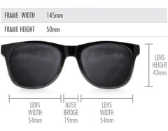 Black Ice Large Frame Sunglasses - Faded Days