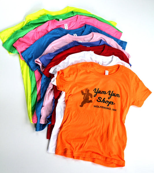A Yum Yum Shop short sleeve in the nine available colors.
