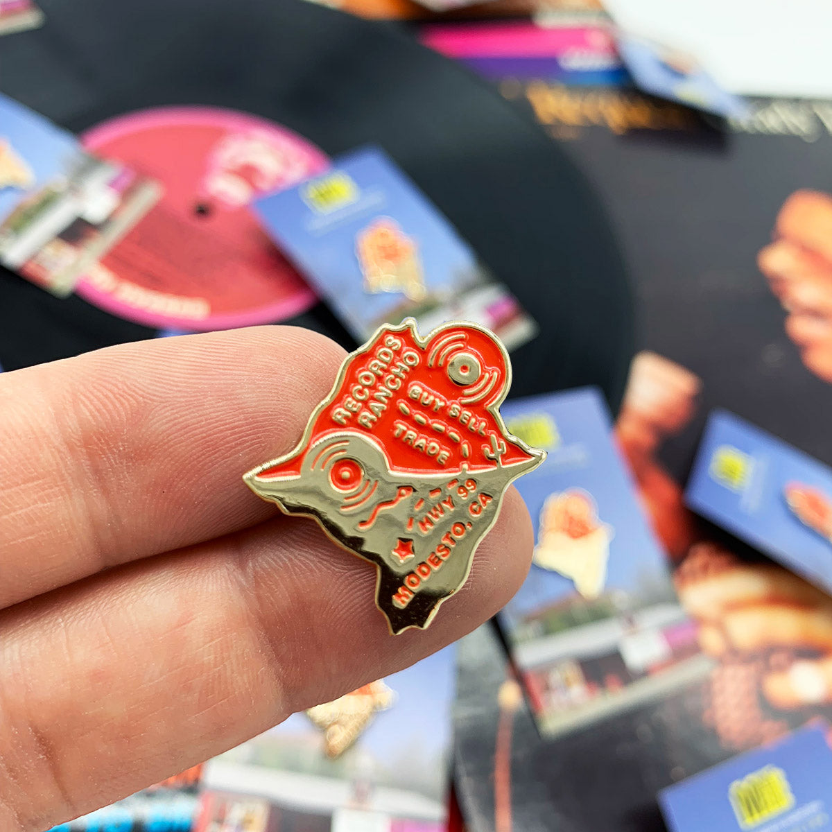 Records Rancho Enamel Pin + Booklet