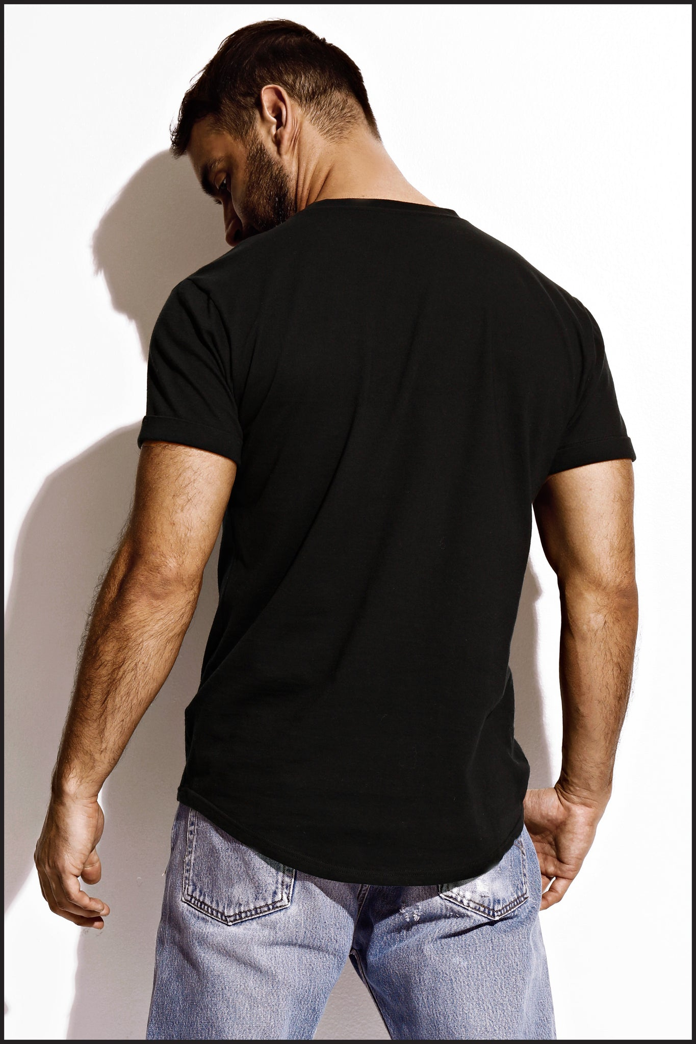 Charlie by Matthew Zink Mens Apparel Perfect Cuffed Tee Shirt
