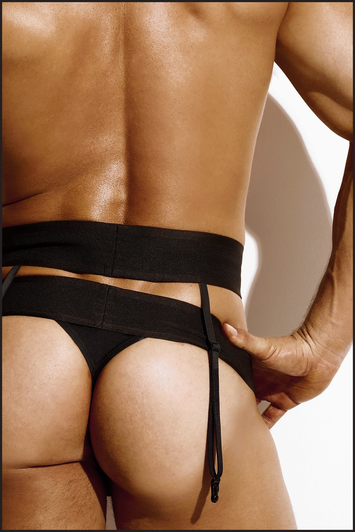 Charlie by Matthew Zink Noir Underwear Suspender Belt