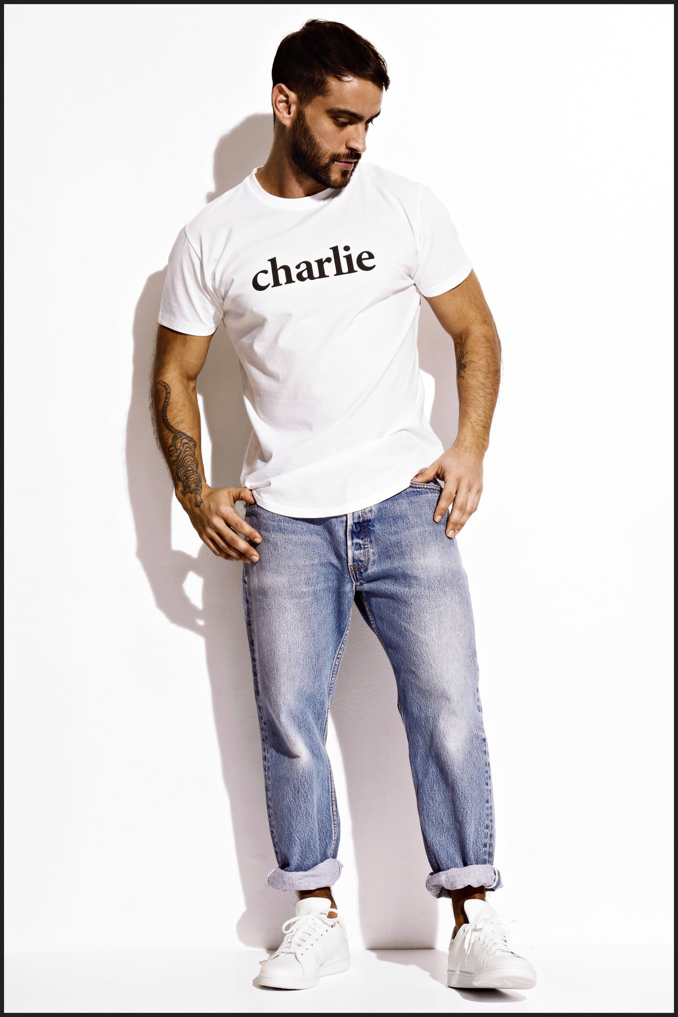 Charlie by Matthew Zink Mens Apparel Perfect Logo Tee Shirt