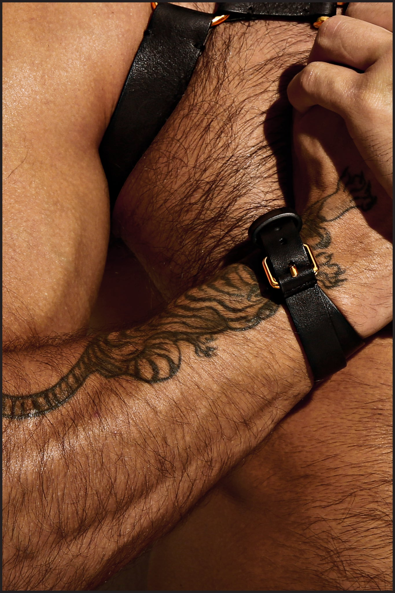 Charlie by Matthew Zink Mens Leather Double Cuff