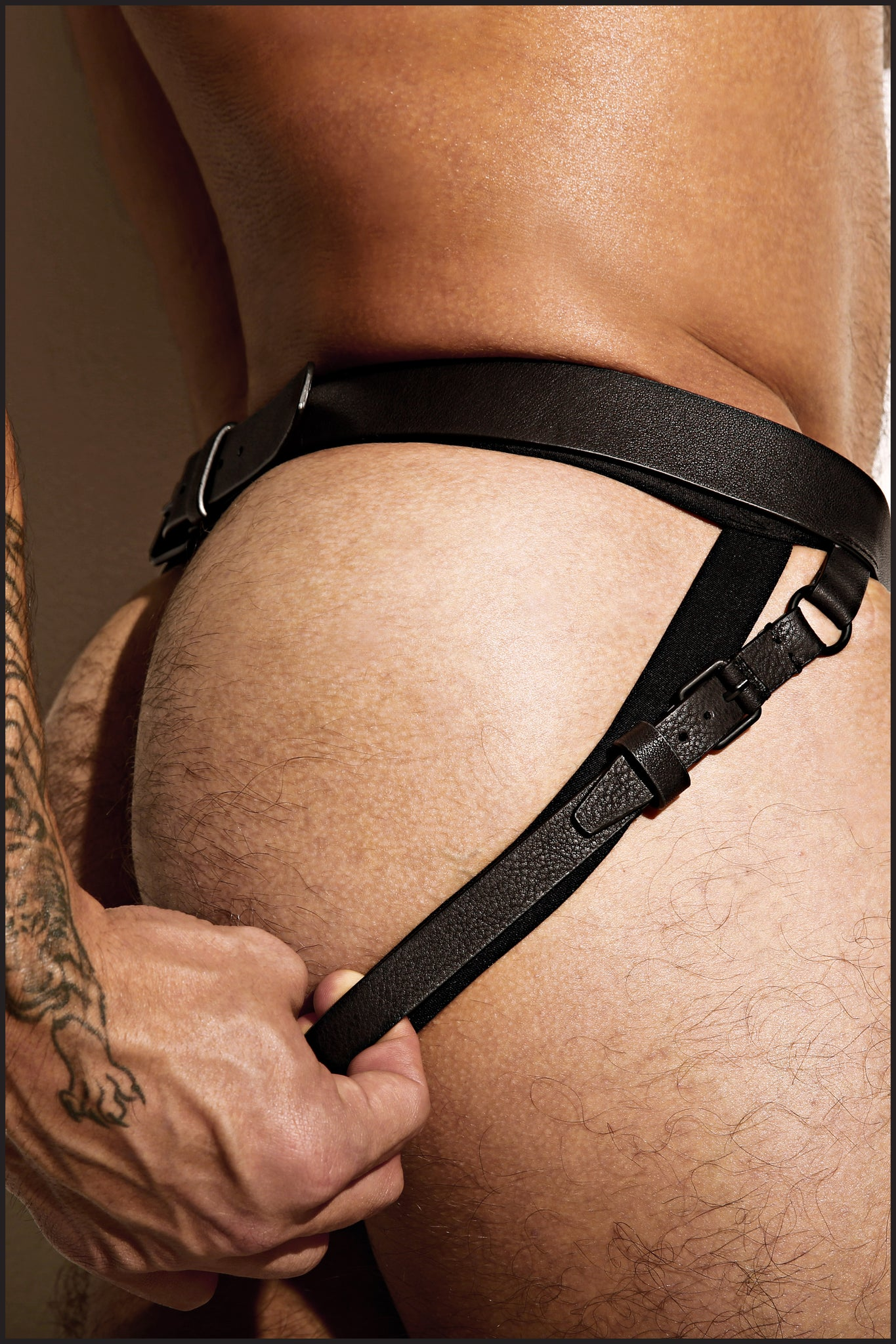 Charlie by Matthew Zink Mens Leather Leg Harness