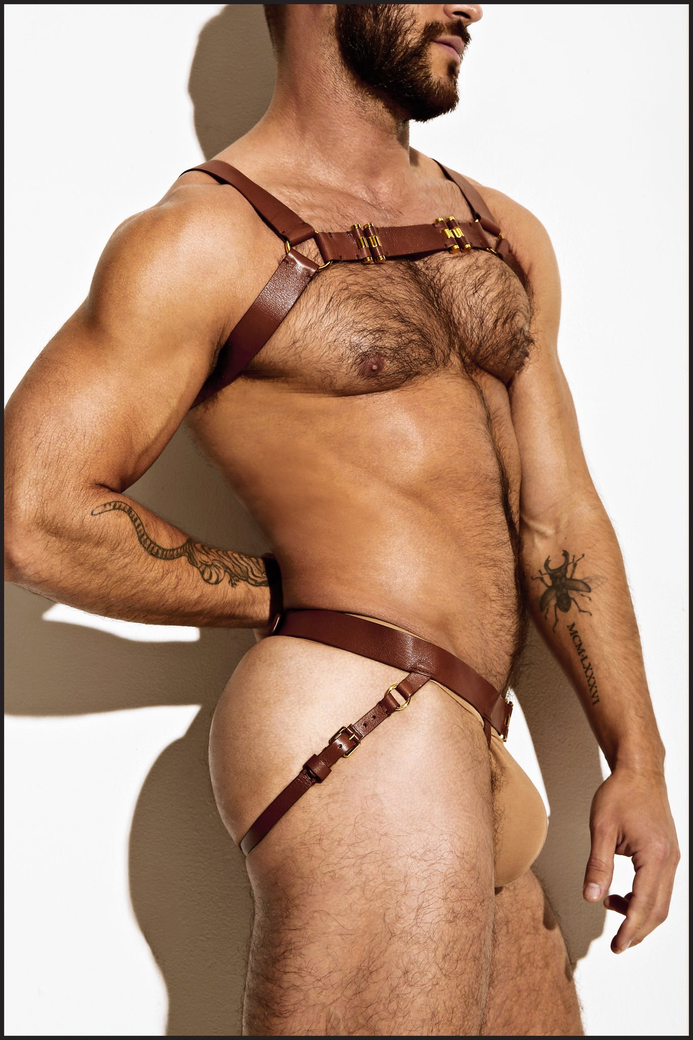 Charlie by Matthew Zink Mens Leather Chest Harness