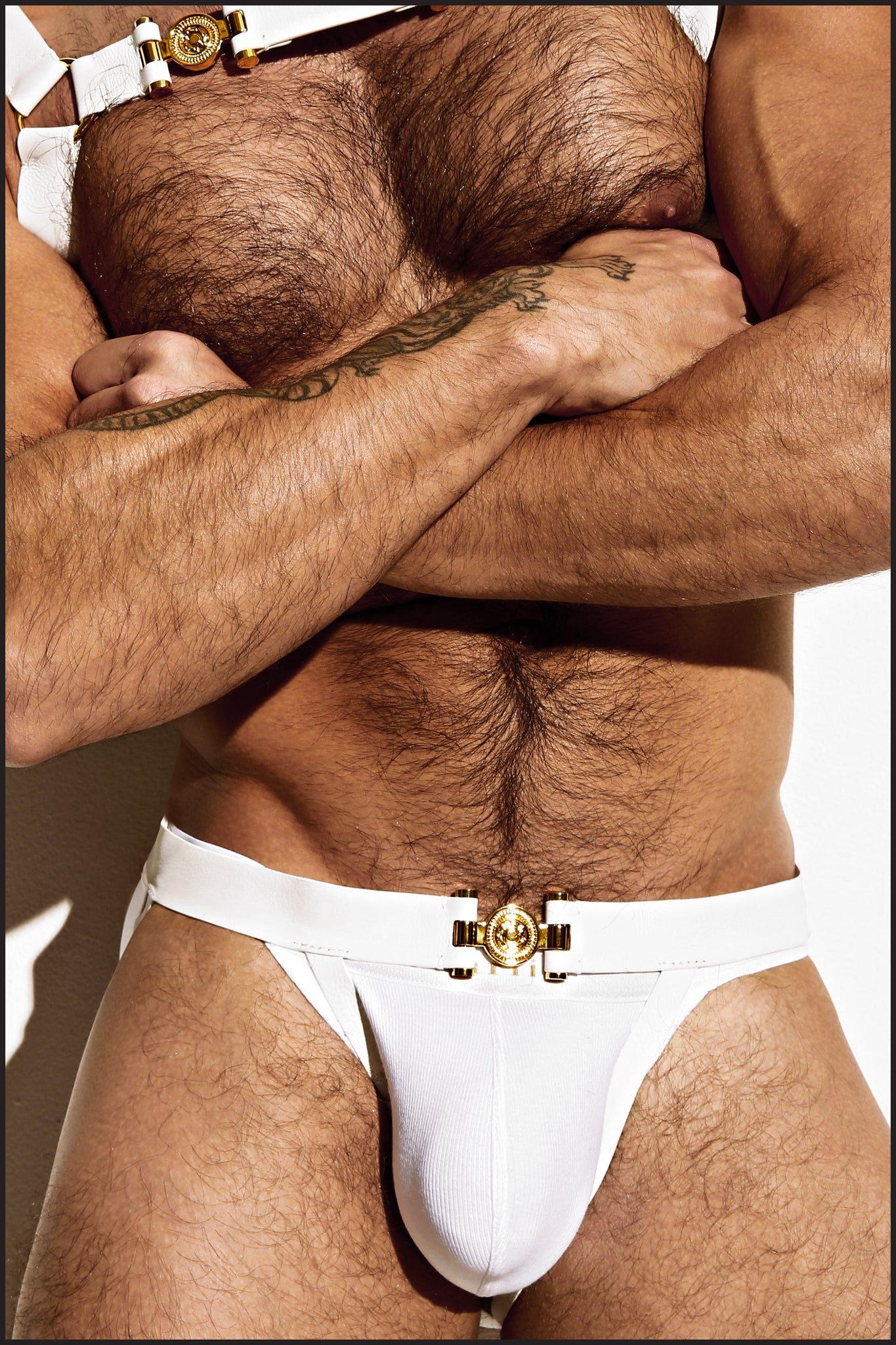 Charlie by Matthew Zink Mens Leather Grecian Leg Harness