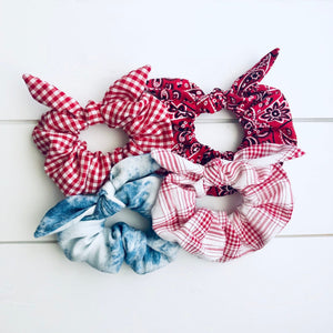 Backyard BBQ Bow Scrunchies
