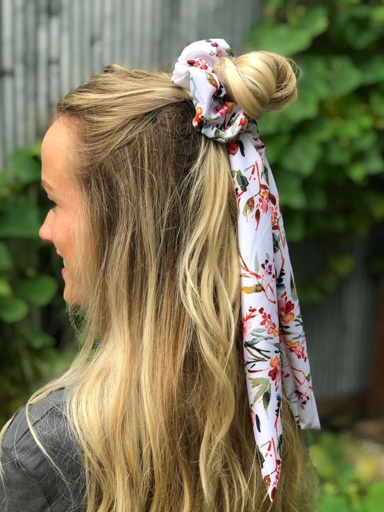 At The Vineyard Scrunchie Scarf