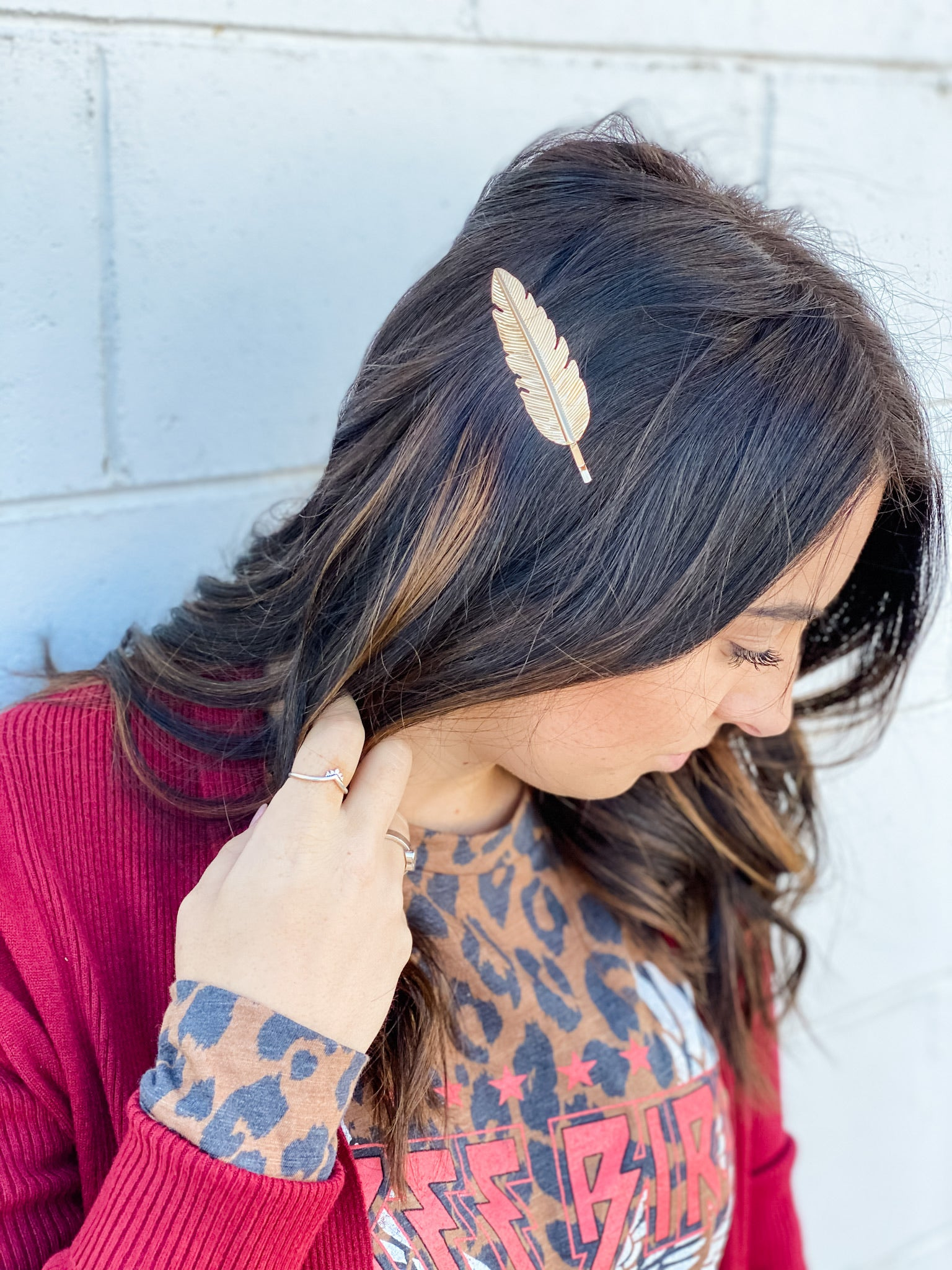 Gold Leaves Clip Set