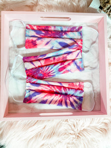 Fashion Face Cover • Shimmer Tie Dye