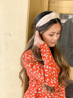 TWO LEFT : Corduroy Knotted Structured Headbands • Multiple Colors