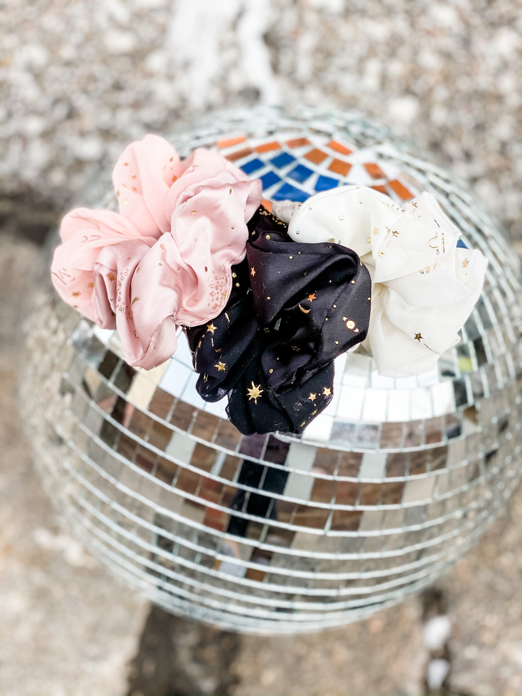 Constellation Scrunchie Trio Pack • Cream
