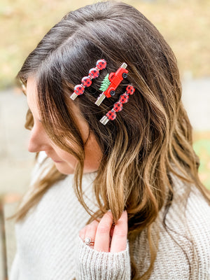 Buffalo Plaid Clip Set