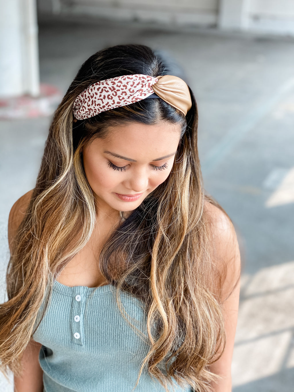 Pleather + Leopard Structured Headbands • Multiple Colors
