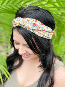 Knotted Headband • Mixed Floral