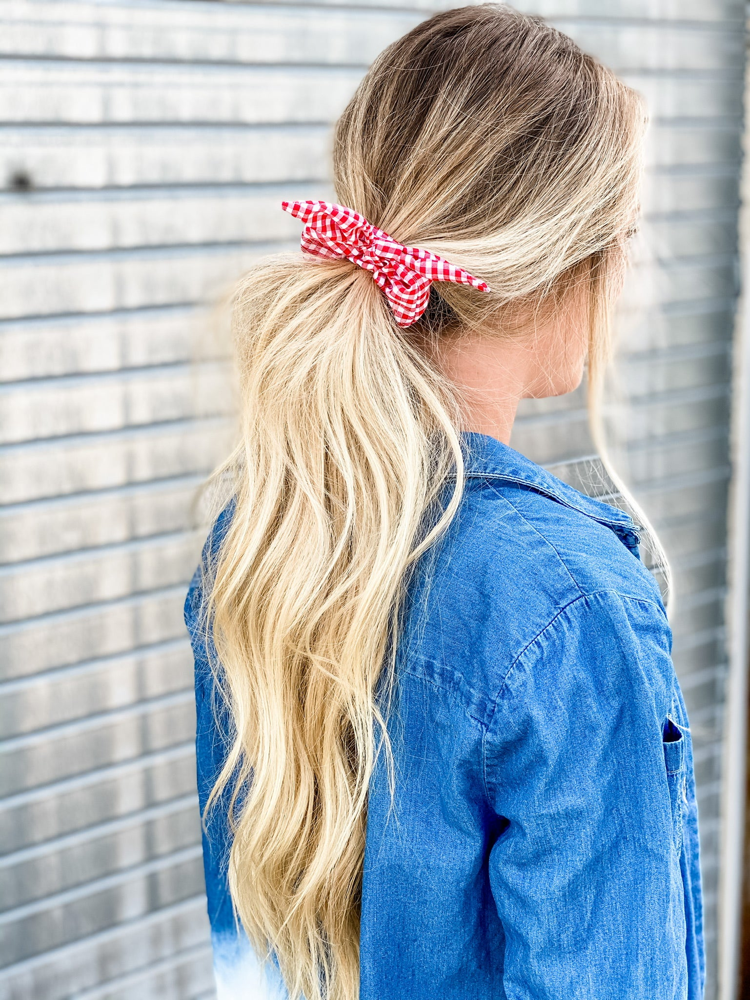 Check In Bow Scrunchie
