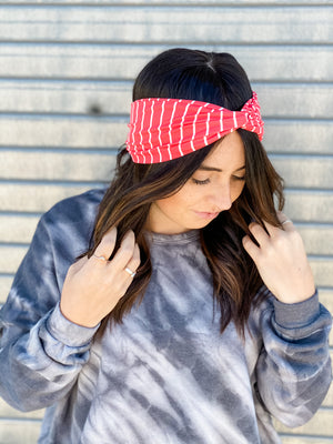 The Time Is Stripe Headband