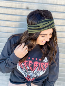 Take It In Stripe Headband
