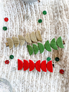 Holiday Clay Half Moon Clip • Multiple Colors