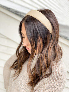 Pleather Structured Headbands • Multiple Colors