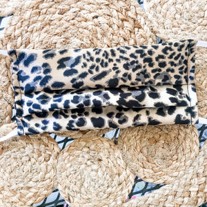 Fashion Face Cover • Neutral Leopard