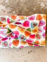 Jumbo Candy Hearts Headband